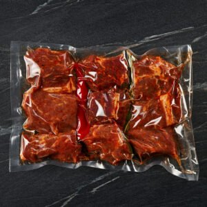 Marinated pork meat for barbecue