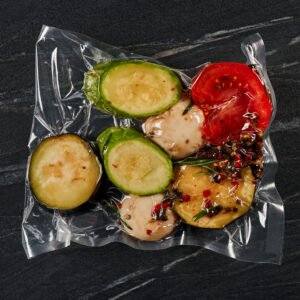 Marinated vegetables for grilling