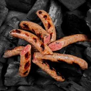 Veal sausages with cranberries