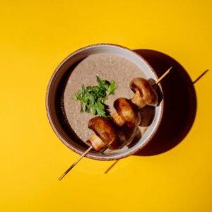 Крем-суп из шампиньонов с крокетами